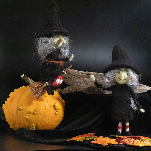Little Witch on a Broom, Bendy Witch, Witch Doll