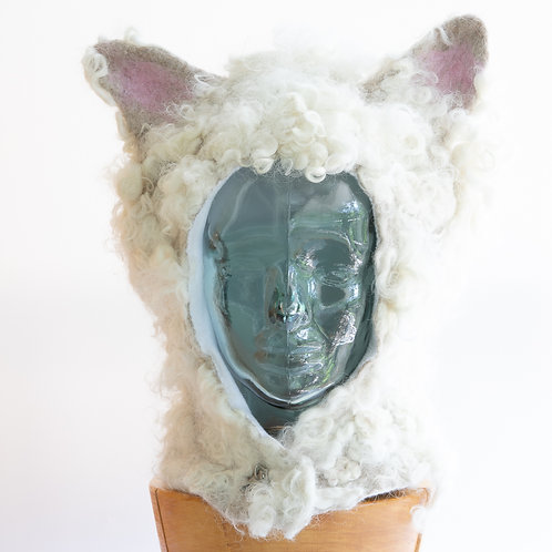 Sheep's Wool Hat, Animal Hat, Hat with Ears