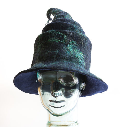Magical Witch's Hat, Wool Hat, Winter Hat