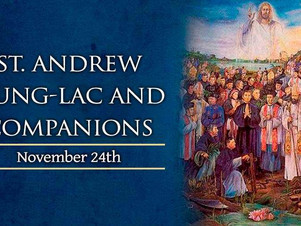 November 24: Saint Andrew Dung-Lac and Companions Martyrs