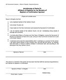 AFFIDAVIT OF ELIGIBILITY OF SPONSOR FOR