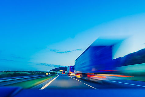 Background photograph of a highway, truc