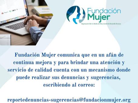 Fundación creó correo para denuncias y sugerencias