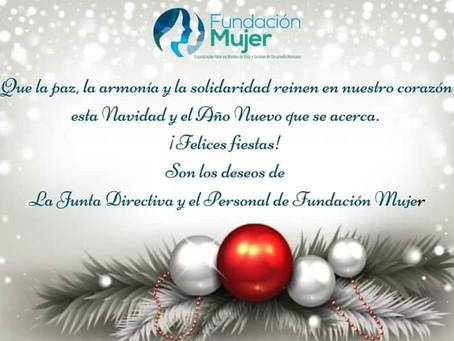 ¡Feliz Navidad les desea Fundación Mujer!