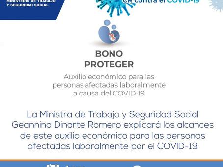 Bono Proteger  auxilio económico para las personas afectadas laboralmente por el COVID-19.