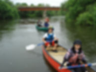 釧路川の下流 釧路湿原をカヌーで下る
