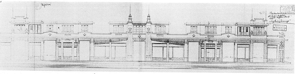 Progetto di Belluomini, Leonzi e Puccinelli del Bagno Quilghini - 1931