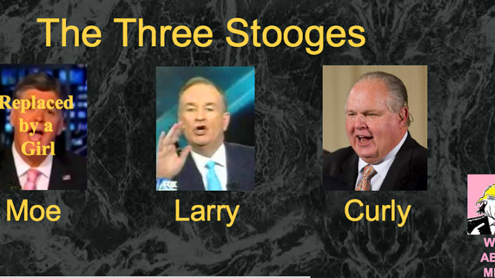 19.   Sean Hannity, Bill O'Reilly and Rush Limbaugh