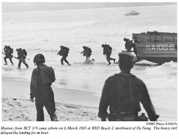 151.  First Marines land at Da Nang Vietnam March 8, 1965