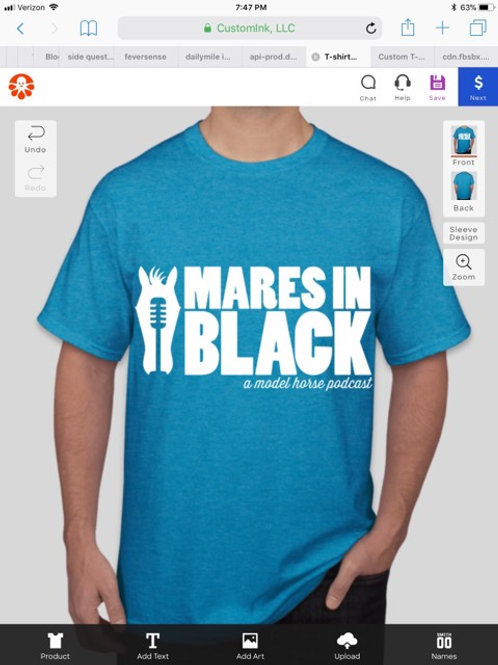 Mares in Black Podcast T-shirt in COLORS