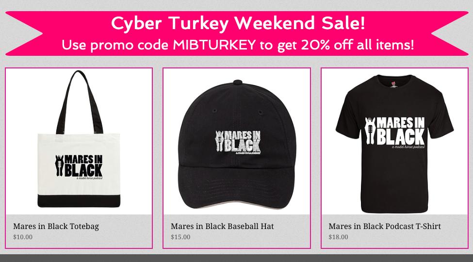 MIB sale items: hat, shirt, tote