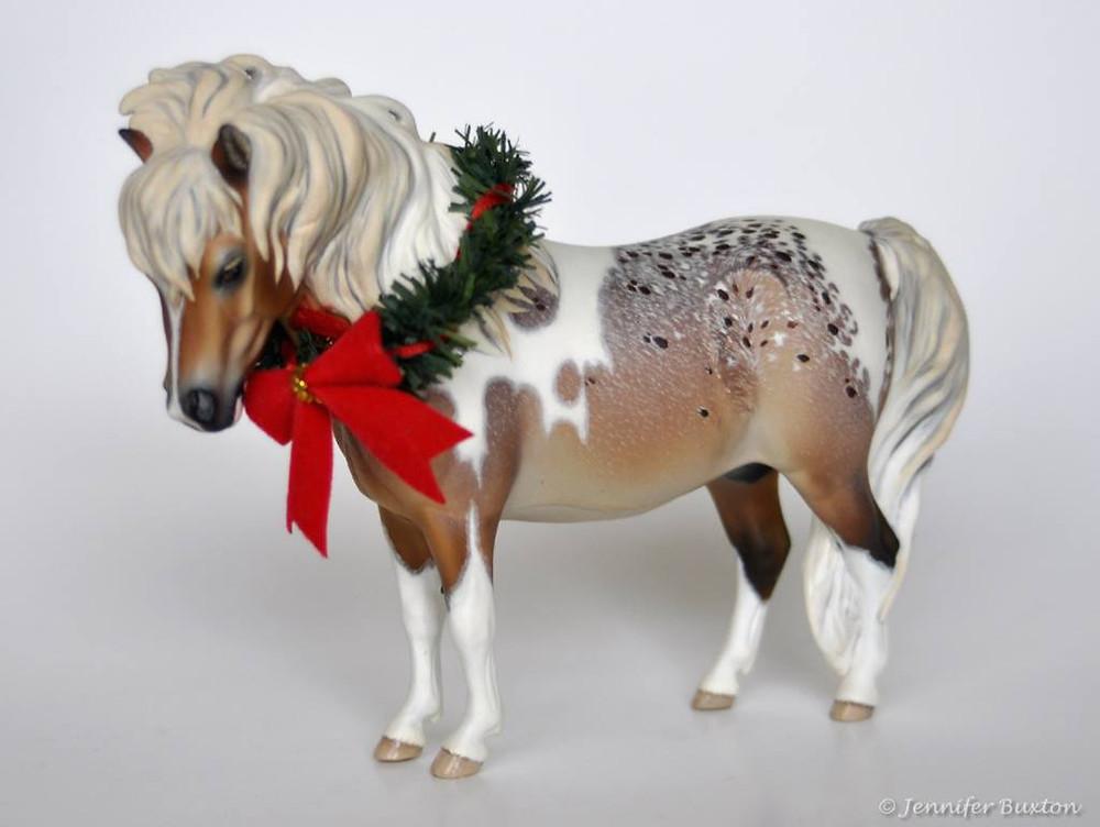 Christmas pony photo