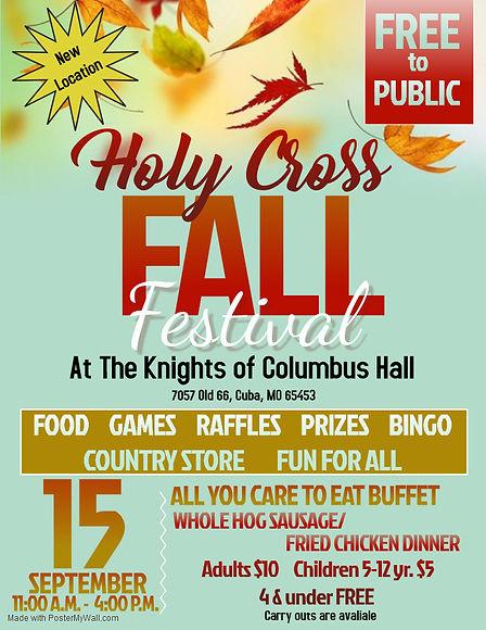 Holy Cross Fall Festival