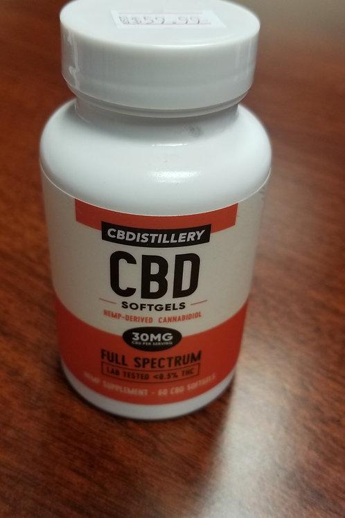 CBD Distillery 30MG Full Spectrum Softgels
