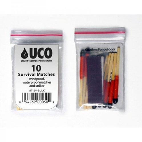 UCO Stormproof Matches 10pk w/Strikers Waterproof & Windproof