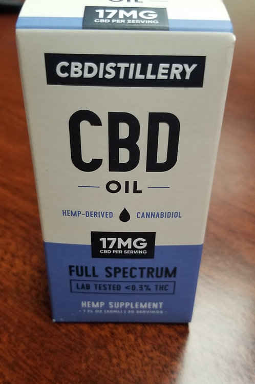 CBD Distillery Hemp-Derived Cannabidoil 17 MG CBD