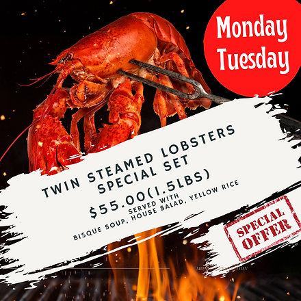 2 Steamed Lobster 2 Baked Cheese Lobster