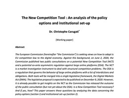 The New Competition Tool : A primer