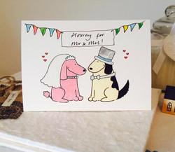 AB108C Hooray for Mr & Mrs Dog!