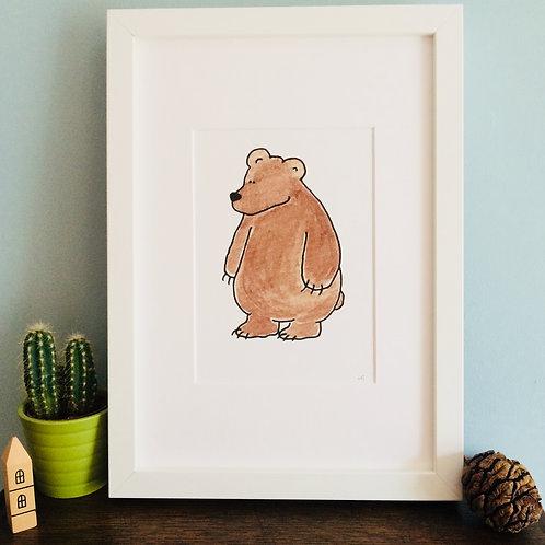 Mr Bear A5 Print (unframed)