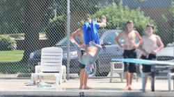 Diving board at pool