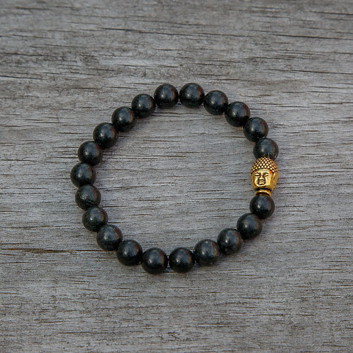 Obsidian Buddha Bracelet