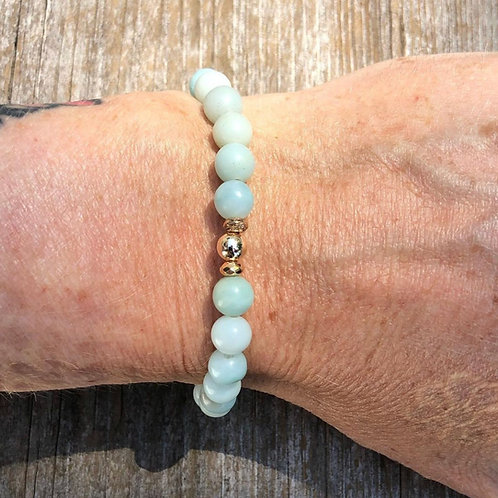 Russian Amazonite with 14K Gold Vermeil