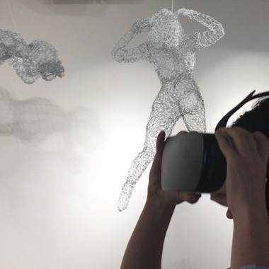 Mixed reality installation at Sotheby's Art of VR show.