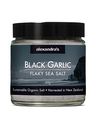 Black Garlic Flaky Sea Salt