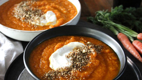 Roasted Carrot Soup with Dukkah