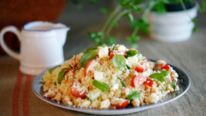 French Couscous with Cherry Tomatoes and Feta