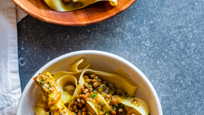 Chicken Legs and Lentils with Papardelle