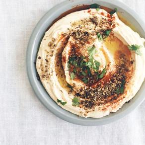 Tahini Hummus with Paprika and Hazelnut Dukkah