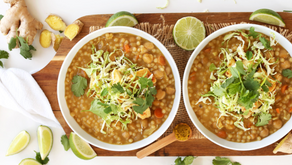 Easy Green Chickpea Curry with Israeli Couscous