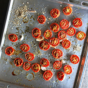 Roasted Tomatoes with Black Garlic