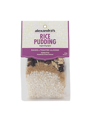 Rice Pudding: Raisin and Toasted Almond