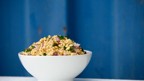 Israeli Couscous with Preserved Lemons and Herbs