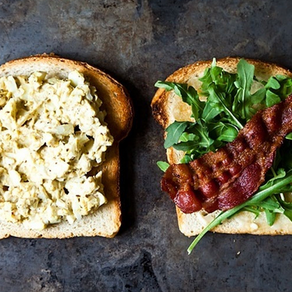 Bacon and Egg Sandwich with Dukkah