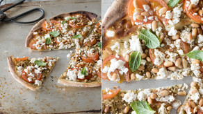 Zahtar Pizza with Tomatoes and Feta