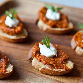 Roasted Carrot Harissa and Crème Fraîche Crostini - Food52