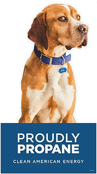 Blue the Dog - Proudly Propane, Clean American Energy