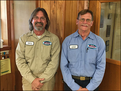 Henry Colvin and Lester Lawrence of Morris Propane