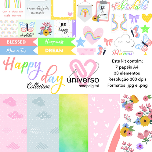 Kit Digital Happy Day - Uso Comercial