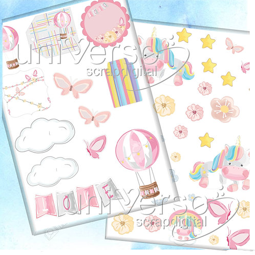 Cliparts Aquarelle Dreams Collection - Uso Comercial
