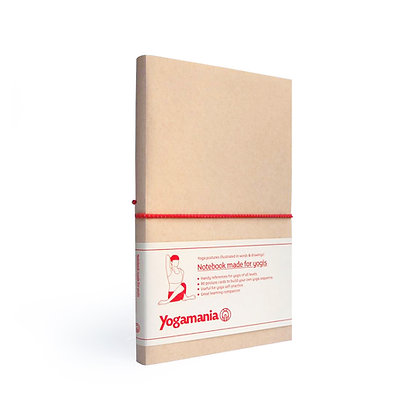 Yogamania Notebook (coral red)