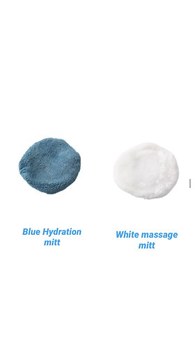Body Buff Accessories White/Blue Mitt