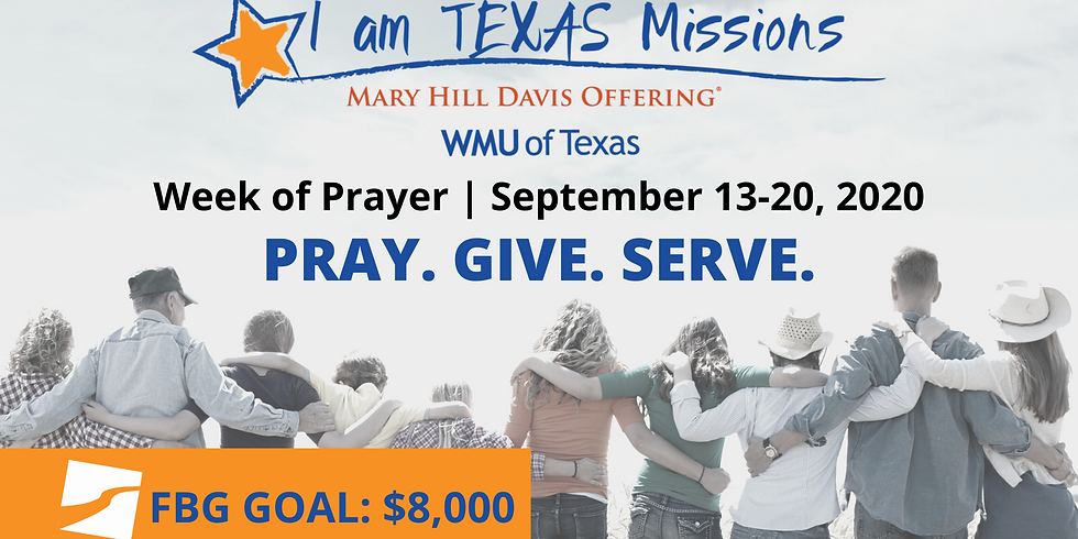 Week of Prayer for Texas Missions