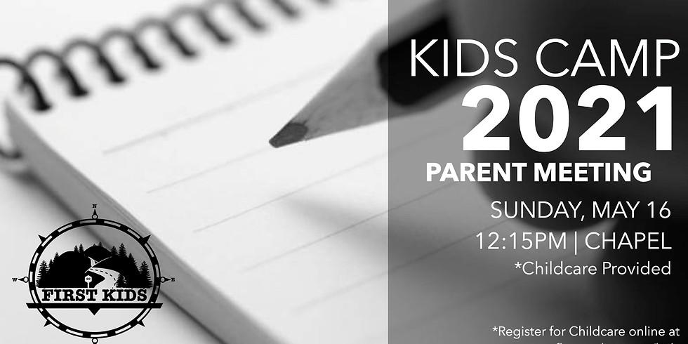 Kids Camp Parent Meeting