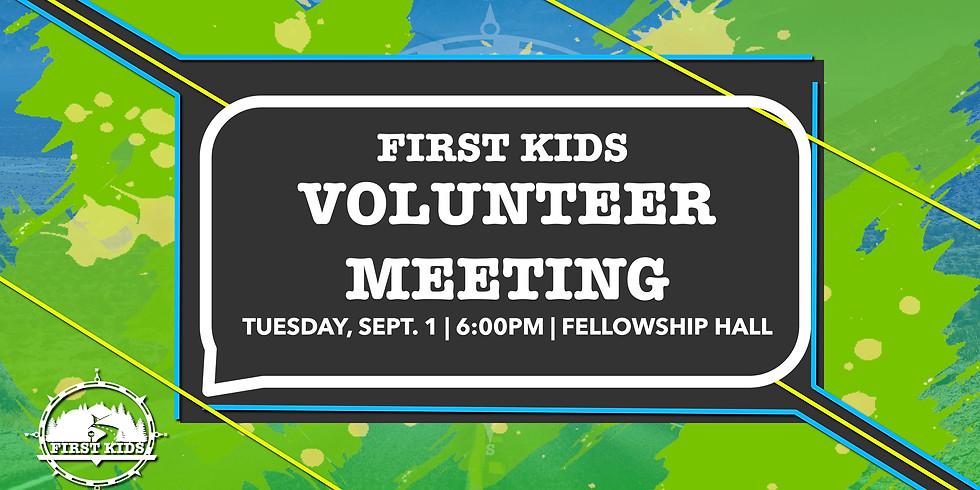 First Kids Volunteer Training
