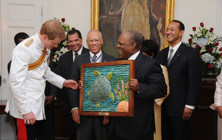Presentaion to Prince Harry from the Pri